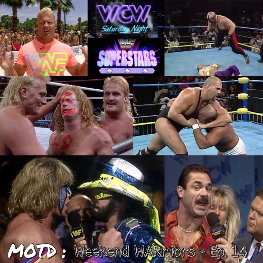 Welcome to Mark'n Out The Days : Weekend WARriors  Your hosts Coby Nida will take you back to the year of 1992- covering the Saturday standoff that brewed before the Monday night wars!  Join us on the magic school bus of professional wrestling podcasts as the hosting squad take a trip every Saturday morning to visit and relive WWF Superstars and WCW Saturday Night.  This episode covers the date of July 25th, 1992 with some added pop culture trivia  you can always find us on facebook and Podbean @WretroMania  follow us on twitter @WretroManiaPod  or write to us @ WretroManiaPodcast@gmail.com  we're also part of MoleHoleRadio.com  you can find Dave over on  soundcloud.com and facebook @Kick'n Out at 2  follow on twitter @Kicknout2